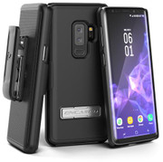 Encased Slimline Case Samsung Galaxy S9+ Plus with Belt Clip Holster - Black