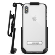 Encased Reveal Case iPhone Xs Max with Belt Clip Holster - Silver