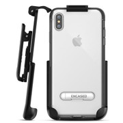 Encased Reveal Case iPhone Xs Max with Belt Clip Holster - Grey