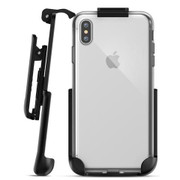 Encased Clear Back Case iPhone Xs Max with Belt Clip Holster - Clear