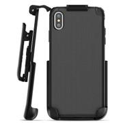 Encased Nova Case iPhone Xs Max with Belt Clip Holster - Black