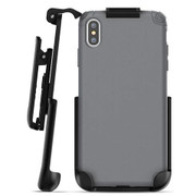 Encased Nova Case iPhone Xs Max with Belt Clip Holster - Grey