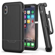 Encased Rebel Case iPhone X/Xs with Belt Clip Holster - Black