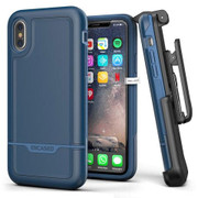 Encased Rebel Case iPhone X/Xs with Belt Clip Holster - Blue
