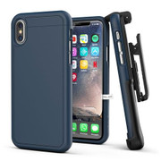 Encased Slimshield Case iPhone X/Xs with Belt Clip Holster - Blue