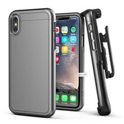 Encased Slimshield Case iPhone X/Xs with Belt Clip Holster - Grey