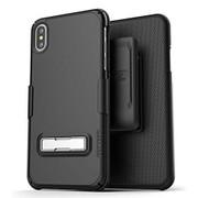 Encased Slimline Case iPhone X/Xs with Belt Clip Holster - Black