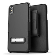 Encased Slimline Case iPhone X/Xs with Belt Clip Holster - Black