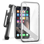 Encased Reveal Case iPhone X/Xs with Belt Clip Holster - Silver