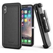 Encased Scorpio Case iPhone X/Xs with Belt Clip Holster - Black