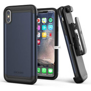 Encased Scorpio Case iPhone X/Xs with Belt Clip Holster - Blue