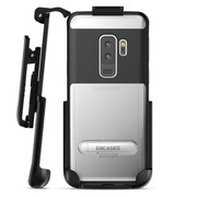 Encased Reveal Case Samsung Galaxy S9+ Plus with Belt Clip Holster - Black