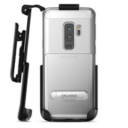 Encased Reveal Case Samsung Galaxy S9+ Plus with Belt Clip Holster - Silver