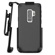 Encased Nova Case Samsung Galaxy S9+ Plus with Belt Clip Holster - Black