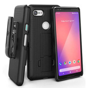 Encased Combo Case Google Pixel 3 with Holster - Black