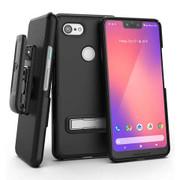 Encased Slimline Case Google Pixel 3 XL with Holster - Black