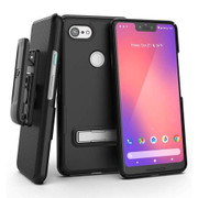 Encased Slimline Case Google Pixel 3 XL with Holster - Black