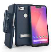 Encased Slimline Case Google Pixel 3 XL with Holster - Blue