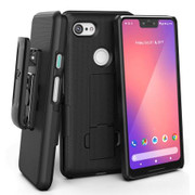 Encased Combo Case Google Pixel 3 XL with Holster - Black