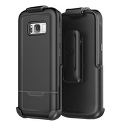 Encased Rebel Case Samsung Galaxy S8 with Holster - Black