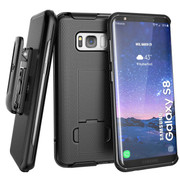 Encased Combo Case Samsung Galaxy S8 with Holster - Black