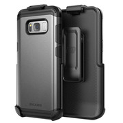 Encased Scorpio R5 Case Samsung Galaxy S8 with Holster - Gunmetal Grey