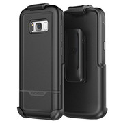 Encased Rebel Case Samsung Galaxy S8+ Plus with Holster - Black