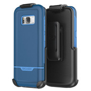 Encased Rebel Case Samsung Galaxy S8+ Plus with Holster - Blue