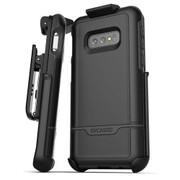 Encased Rebel Case Samsung Galaxy S10e with Belt Clip Holster - Black