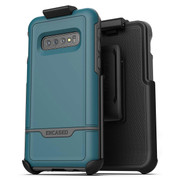 Encased Rebel Case Samsung Galaxy S10 with Belt Clip Holster - Angel Blue