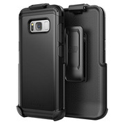Encased Scorpio R7 Case Samsung Galaxy S8+ Plus with Holster - Black
