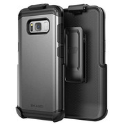 Encased Scorpio R7 Case Samsung Galaxy S8+ Plus with Holster - Gray