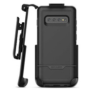 Encased Rebel Case Samsung Galaxy S10+ Plus with Belt Clip Holster - Black
