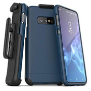 Encased Slimshield Case Samsung Galaxy S10e Belt Clip Holster - Blue