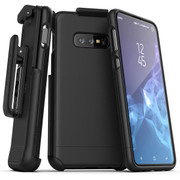Encased Slimshield Case Samsung Galaxy S10 with Belt Clip Holster - Black