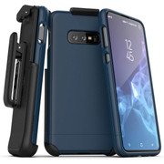 Encased Slimshield Case Samsung Galaxy S10 with Belt Clip Holster - Blue