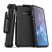 Encased Slimshield Case Samsung Galaxy S10+ Plus with Belt Clip Holster - Black