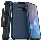 Encased Slimshield Case Samsung Galaxy S10+ Plus with Belt Clip Holster - Blue