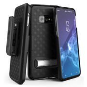Encased Slimline Case Samsung Galaxy S10e with Belt Clip Holster - Black