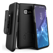Encased Combo Case Samsung Galaxy S10e with Belt Clip Holster - Black