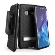 Encased Slimline Case Samsung Galaxy S10 with Belt Clip Holster - Black