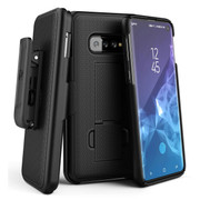 Encased Combo Case Samsung Galaxy S10 with Belt Clip Holster - Black