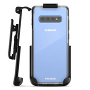Encased Clear Back Case Samsung Galaxy S10 with Belt Clip Holster - Clear