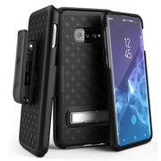 Encased Slimline Case Samsung Galaxy S10+ Plus with Belt Clip Holster - Black