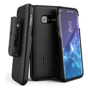 Encased Combo Case Samsung Galaxy S10+ Plus with Belt Clip Holster - Black