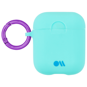 Case-Mate Neon Air Pods Hook Ups Case and Neck Strap - Blue