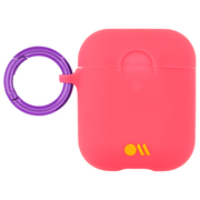 Case-Mate Neon Air Pods Hook Ups Case and Neck Strap - Orange