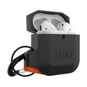 UAG Silicone Case Apple Airpods - Black/Orange