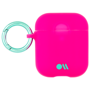 Case-Mate Neon Air Pods Hook Ups Case and Neck Strap - Pink