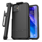 Encased Rebel Case iPhone 11 with Belt Clip Holster - Black